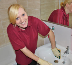 DPC bathroom cleaning